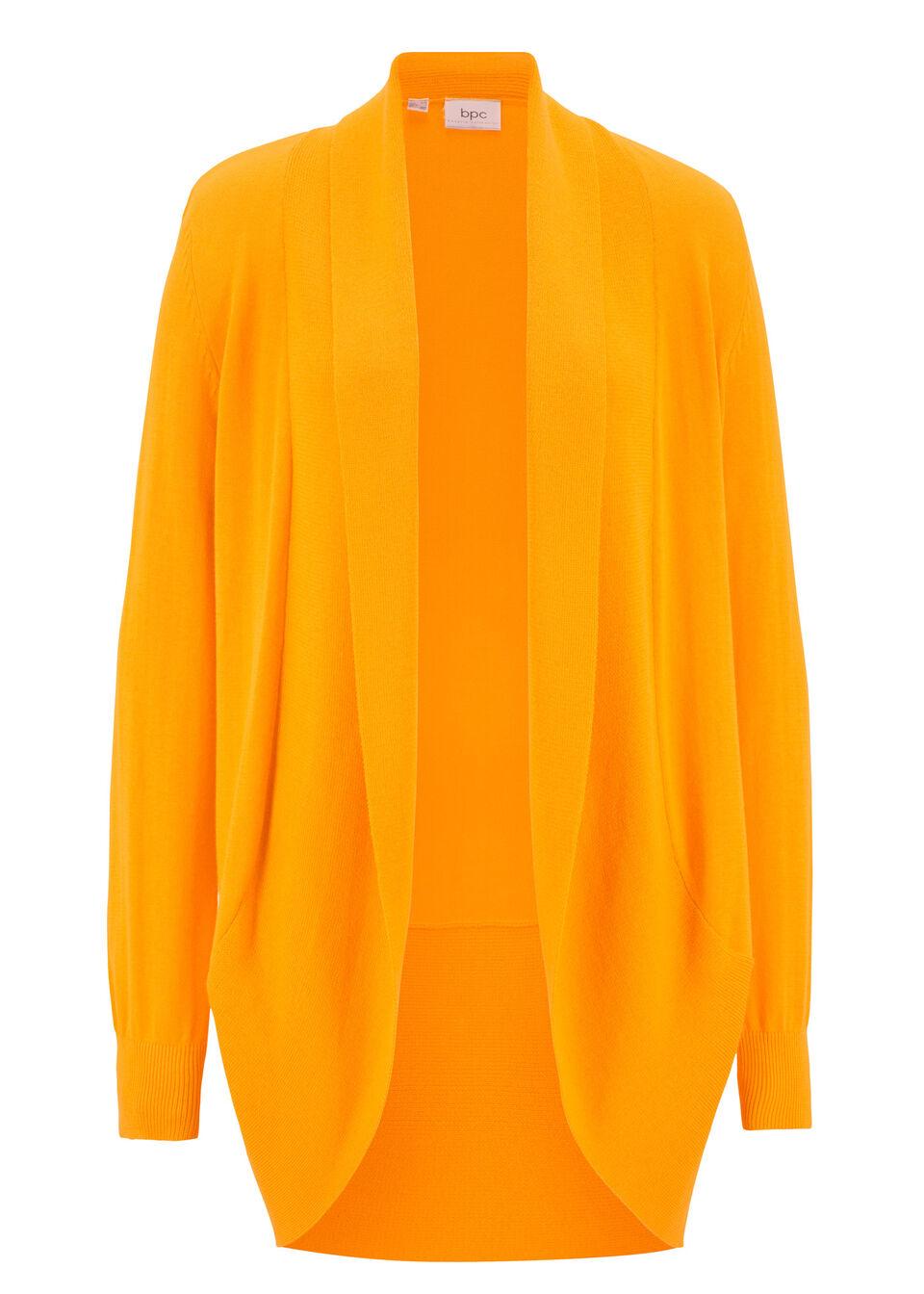 Фото - Кардиган с длинным рукавом от bonprix желто-оранжевого цвета