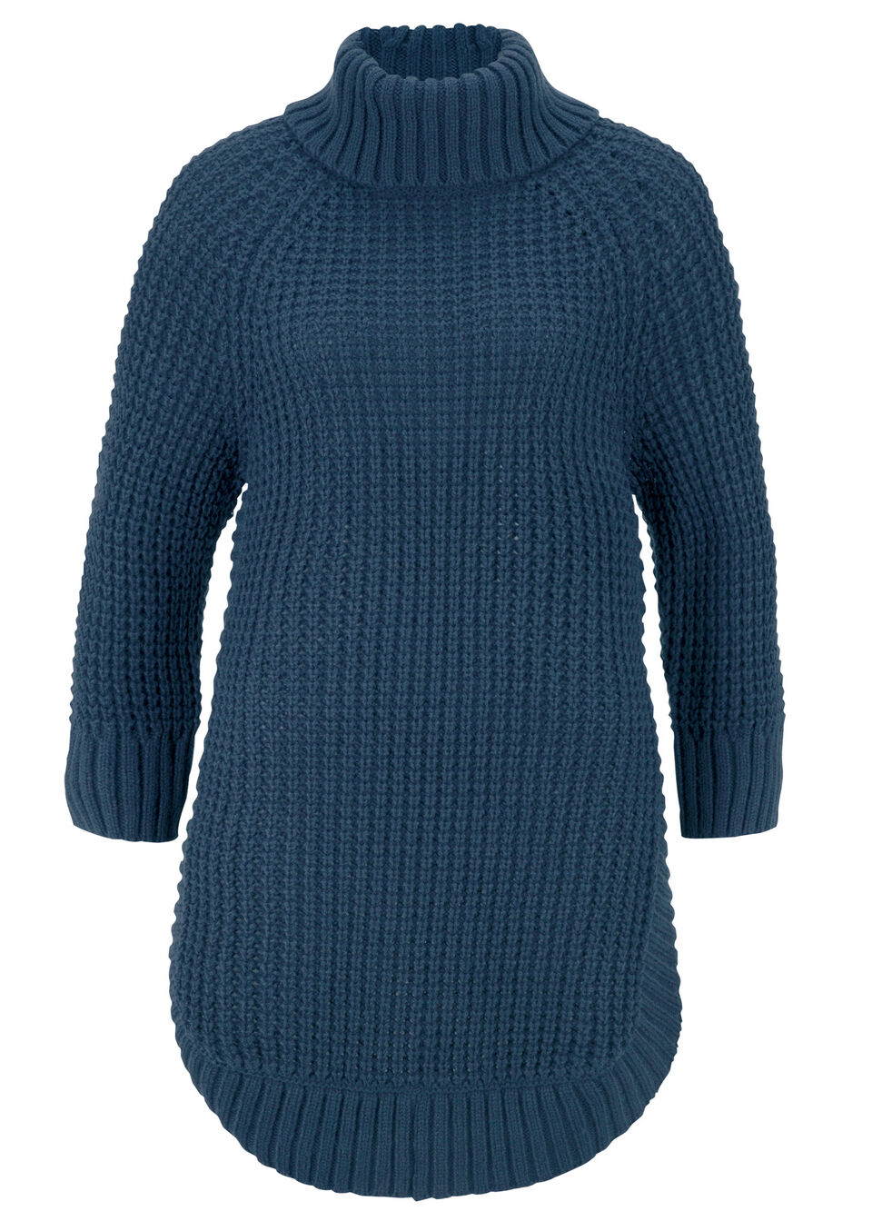 Miękki sweter dzianinowy, rękawy do łokcia bonprix ciemnoniebieski