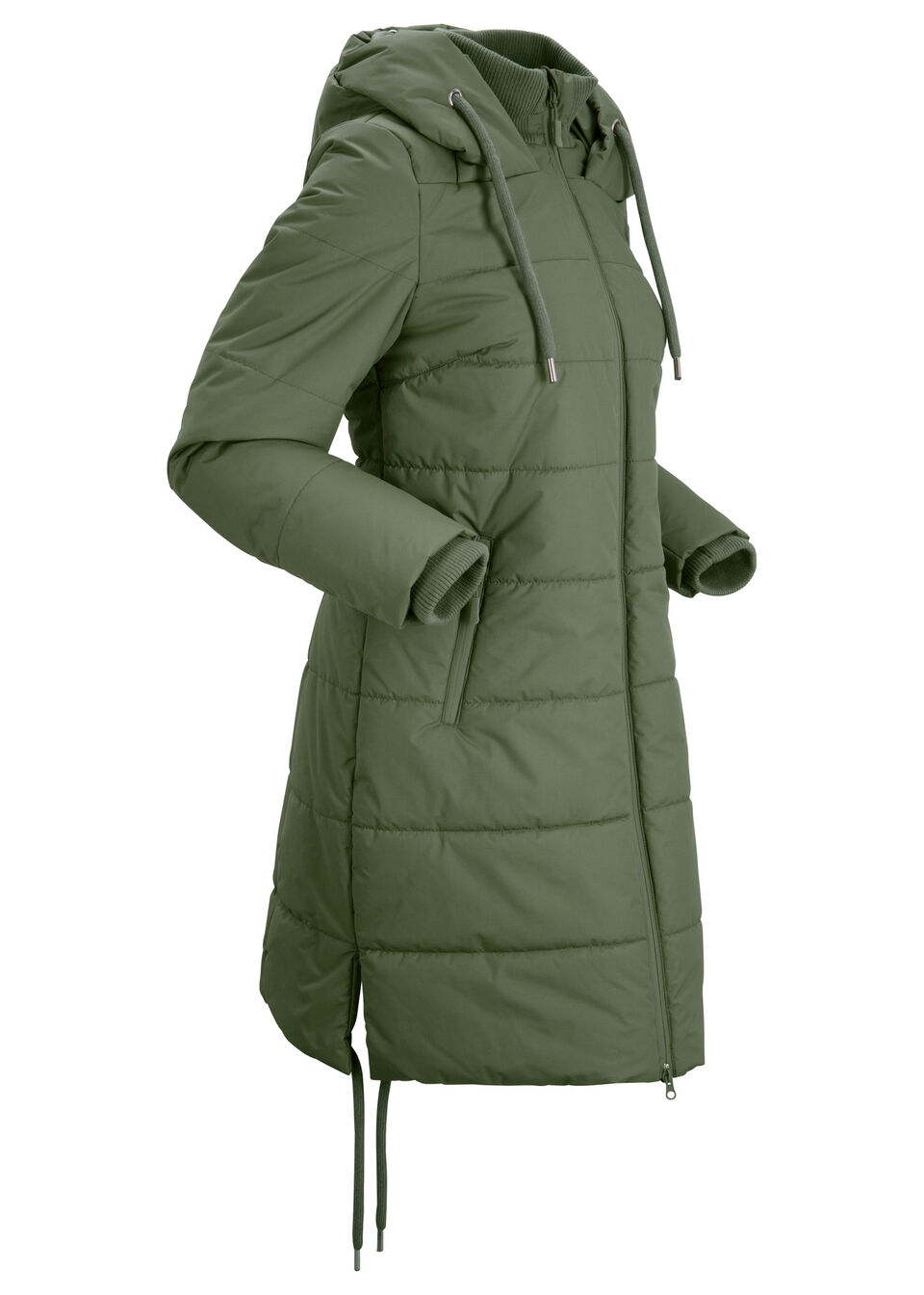 Купить Куртки и плащи, Пальто стёганое, bonprix, темный хаки