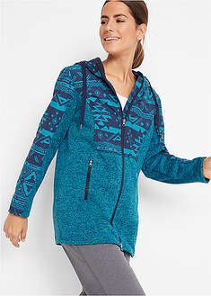 Jachetă fleece cu aspect tricotat bpc bonprix collection 45