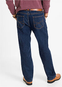 Classic Fit thermo-farmernadrág, Straight sötétkék denim John Baner JEANSWEAR 2