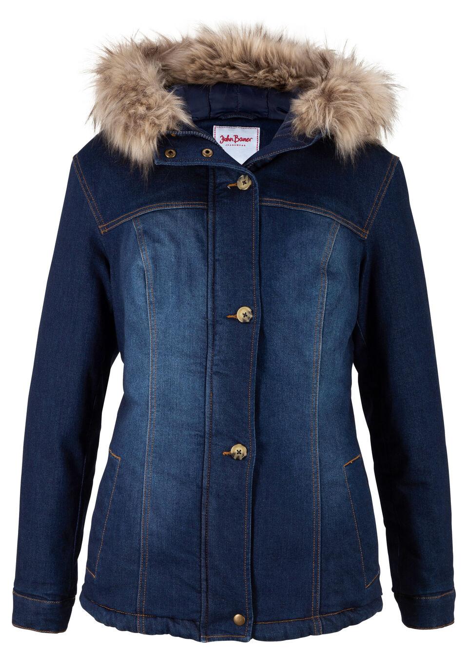 Купить Куртки и плащи, Куртка из переработанного денима, bonprix, темно-синий