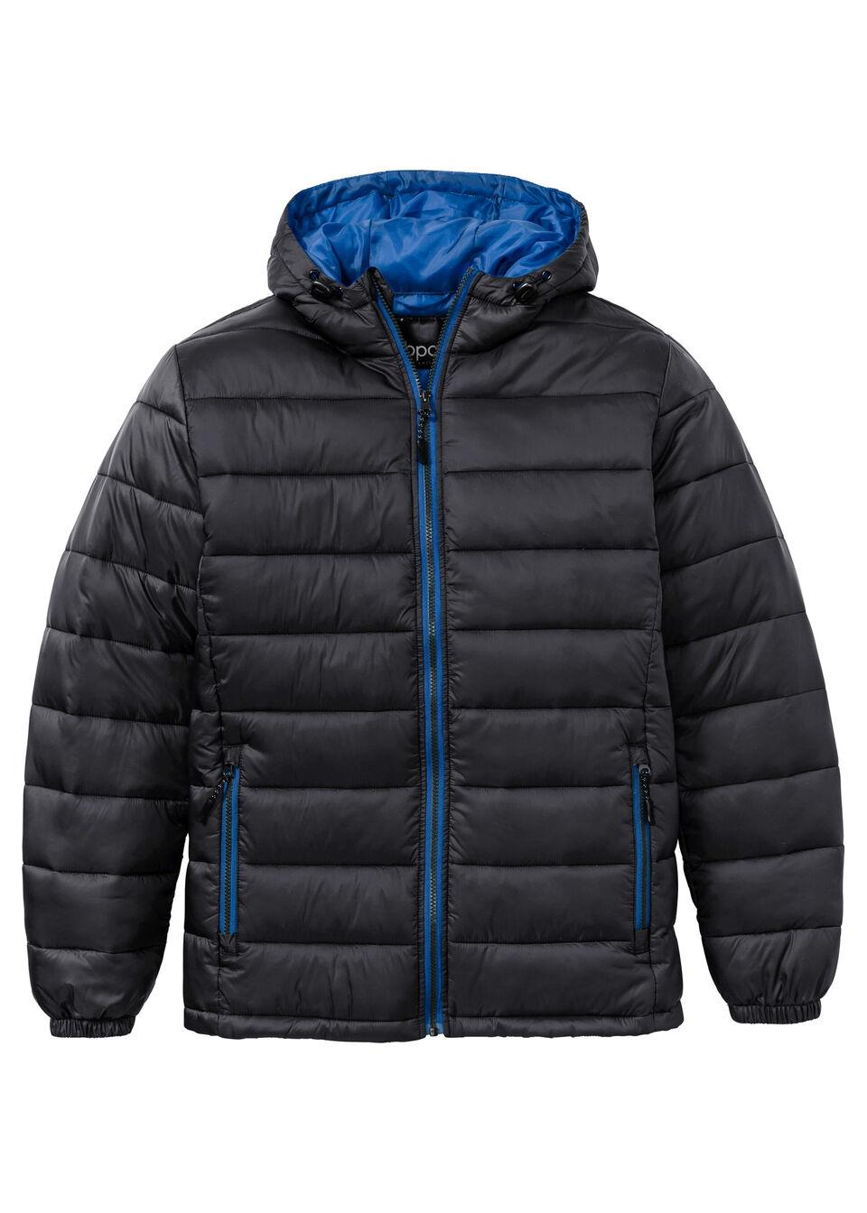 Купить Куртки и плащи, Куртка с капюшоном, стеганый дизайн, bonprix, черный