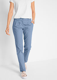 Pantaloni chino stretch albastru bpc bonprix collection 1