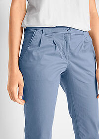 Pantaloni chino stretch albastru bpc bonprix collection 4