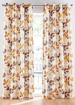 Draperie print vegetal (1buc) alb/maro-coniac bpc living bonprix collection 1