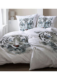 "Lenjerie reversibilă cu motiv ""tiger"" alb bpc living bonprix collection 1"