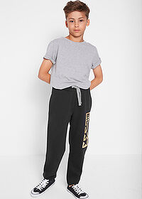 Pantaloni sport băieţi, print cool negru bpc bonprix collection 3