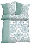 Lenjerie pat, print ornamental verde pal bpc living bonprix collection 2