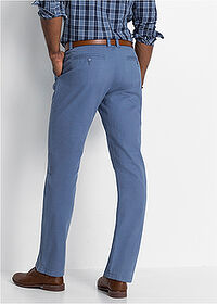 Spodnie chino Regular Fit Straight niebieski dżins bpc bonprix collection 2