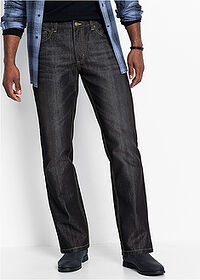 Regular Fit farmer, Straight fekete kőmosott John Baner JEANSWEAR 1