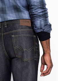 Regular Fit farmer, Straight fekete kőmosott John Baner JEANSWEAR 5
