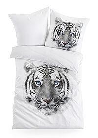 "Lenjerie reversibilă cu motiv ""tiger"" alb bpc living bonprix collection 0"