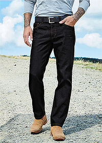 Regular Fit farmer, Straight fekete John Baner JEANSWEAR 6