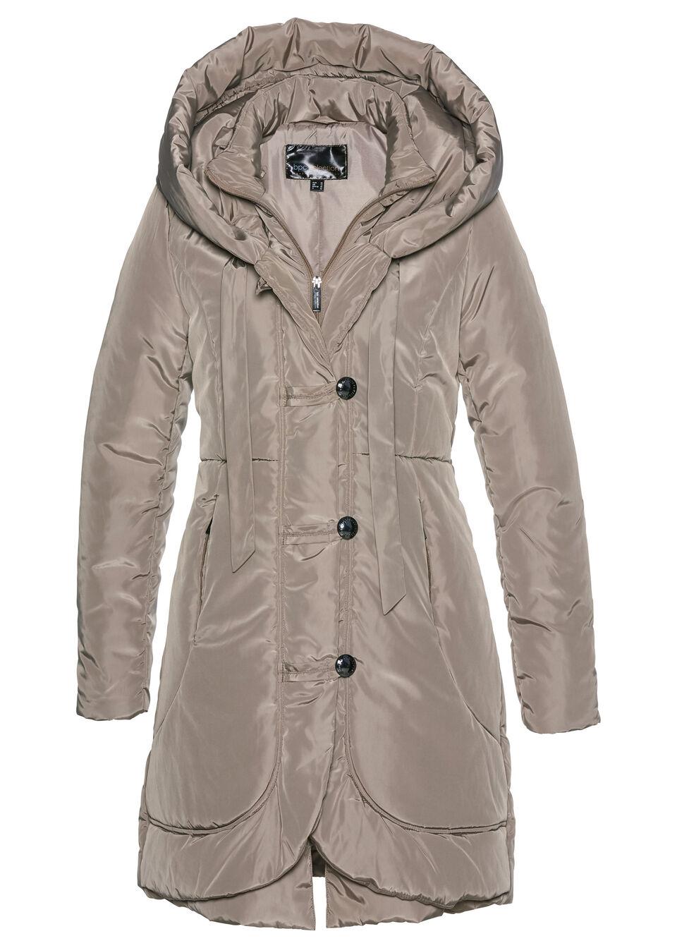 Купить Куртки и плащи, Полупальто стёганое, bonprix, серо-коричневый