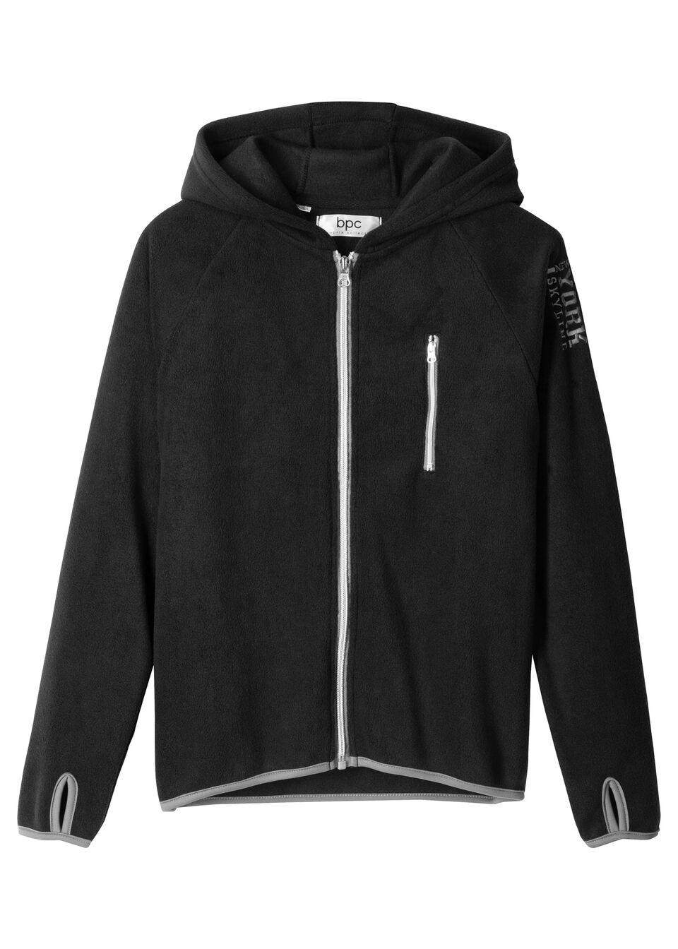 Флисовая куртка с контрастной отделкой от bonprix