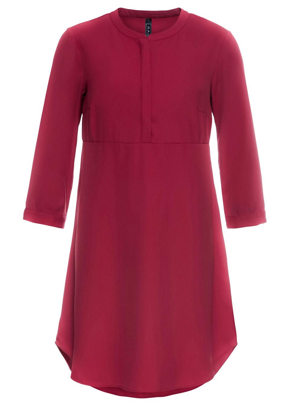 Sukienka koszulowa bonprix czerwony wiśniowy