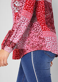 Bluză cu aspect patchwork, design Maite Kelly roşu-granat paisley bpc bonprix collection 4