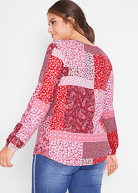 Bluză cu aspect patchwork, design Maite Kelly roşu-granat paisley bpc bonprix collection 2