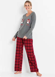 Pijama cu pantaloni din finet bpc bonprix collection 16