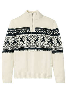 Sweter ze stójką w norweski wzór bpc bonprix collection 2
