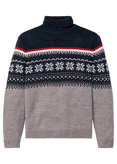 Sweter z golfem w norweski wzór bpc bonprix collection 6