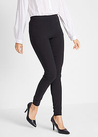Pantaloni stretch negru twill bpc bonprix collection 1