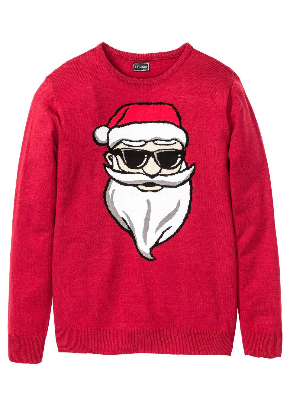 Пуловер с новогодним узором от bonprix