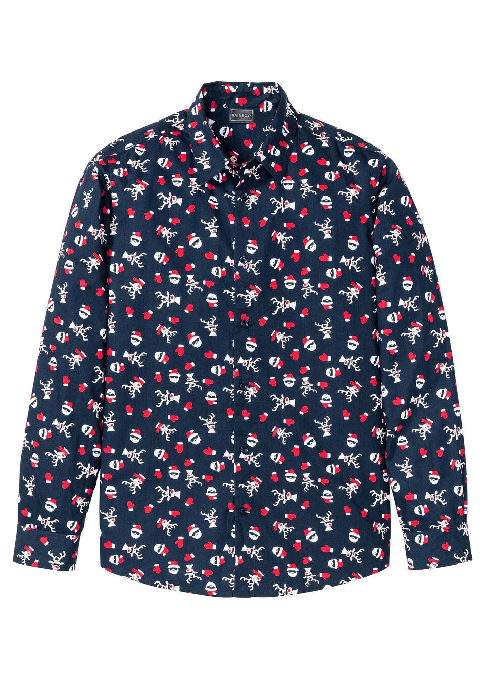 Рубашка с новогодним принтом от bonprix