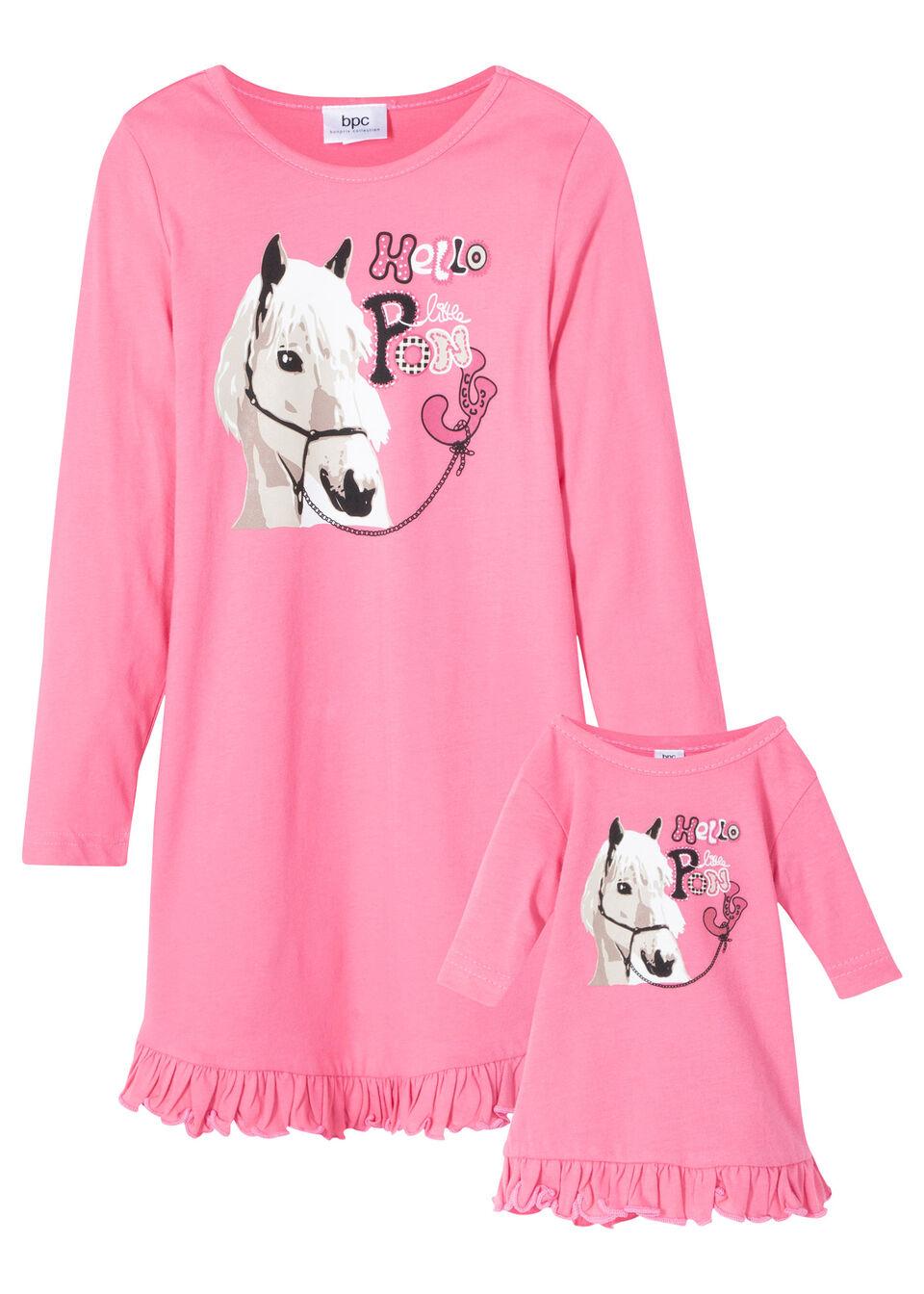 Nočná košeľa+nočná košeľa pre bábiky (2-dielna sada) bonprix