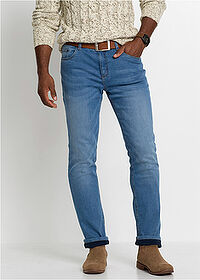 Thermo sztreccsnadrág Regular Fit Straight kék kőmosott John Baner JEANSWEAR 1