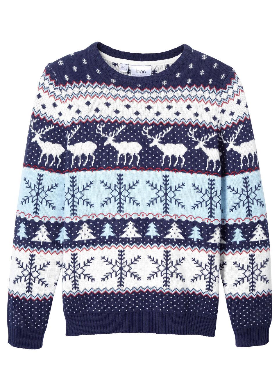 Пуловер с зимним орнаментом от bonprix