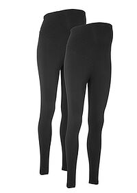 Kismama legging (2 db-os csomag) fekete + fekete bpc bonprix collection 0