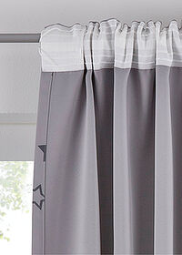 Draperie cu steluţe (1buc.) gri bpc living bonprix collection 4