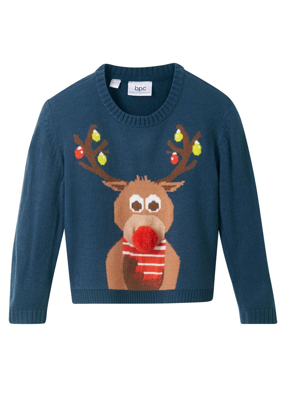 Пуловер с новогодним рисунком от bonprix