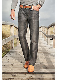 Regular Fit farmer, Straight fekete kőmosott John Baner JEANSWEAR 6