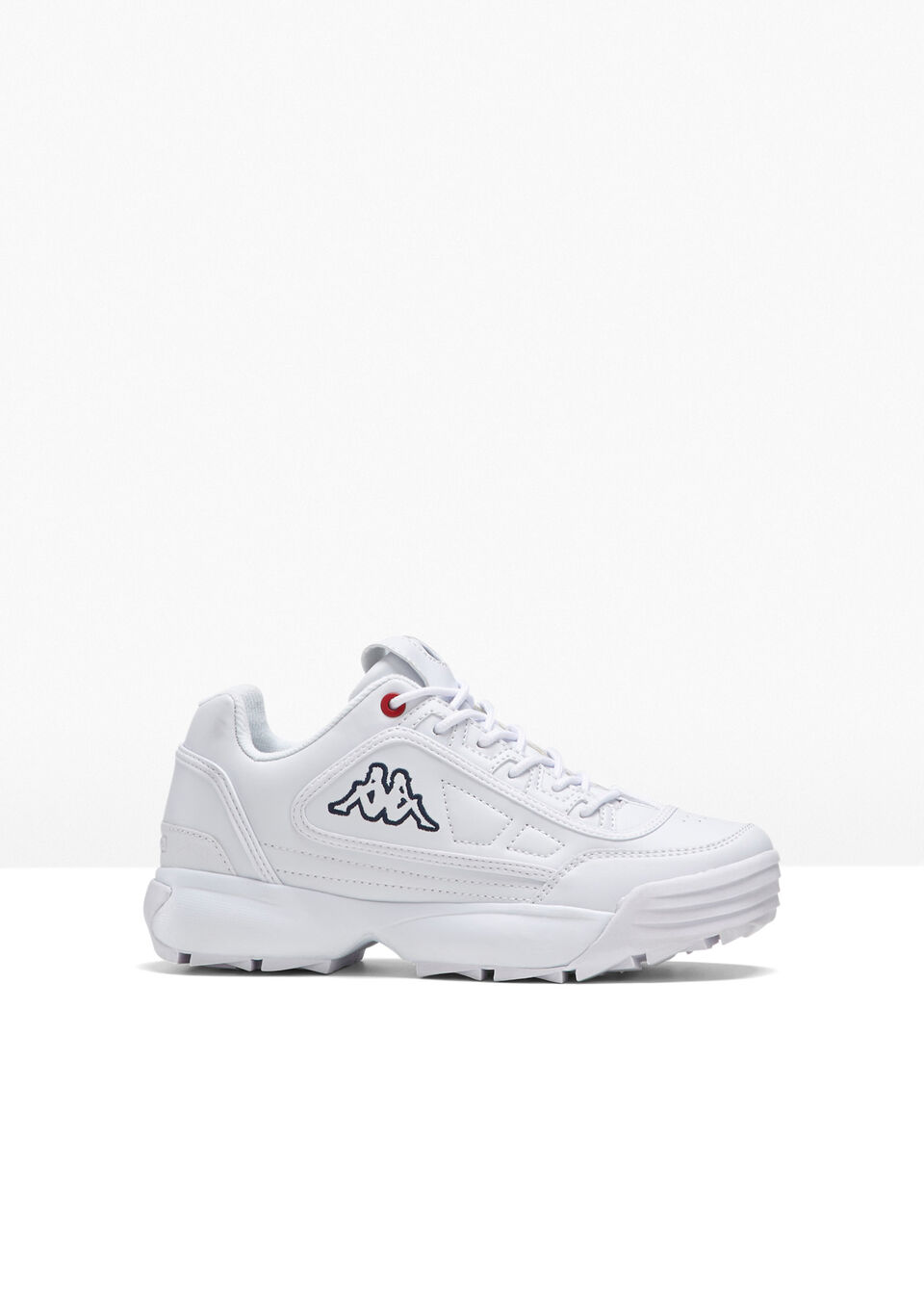 Sneakersy Kappa bonprix biały
