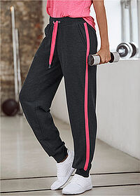 Pantaloni jogging, nivel 1 negru-pink închis melanj bpc bonprix collection 6