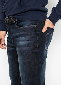 Slim Fit sztreccsfarmer, Tapered sötét denim John Baner JEANSWEAR 5