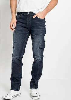 Dżinsy bojówki ze stretchem Slim Fit Straight John Baner JEANSWEAR 4