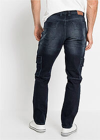 Dżinsy bojówki ze stretchem Slim Fit Straight ciemny denim John Baner JEANSWEAR 2