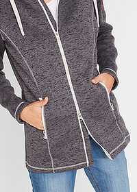 Jachetă din fleece gri melanj bpc bonprix collection 4