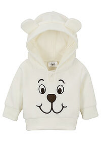 Bluză bebe din fleece crem bpc bonprix collection 0