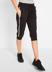 Pantaloni 3/4 sport , nivel 1 negru bpc bonprix collection 1