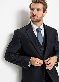 4 részes öltöny: zakó, nadrág, mellény, nyakkendő sötétkék