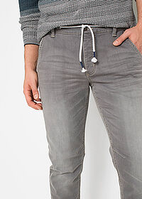 Jeans regular fit, tapered gri denim deschis RAINBOW 4