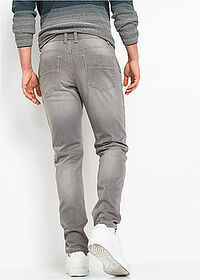 Jeans regular fit, tapered gri denim deschis RAINBOW 2