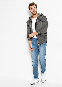 Regular Fit multi-sztreccsfarmer, Tapered kék koptatott John Baner JEANSWEAR 3
