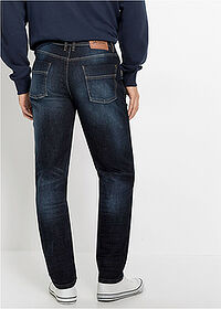 Slim Fit sztreccsfarmer, Tapered sötét denim John Baner JEANSWEAR 2