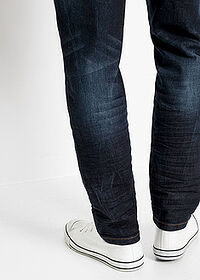Dżinsy ze stretchem Slim Fit Tapered ciemny denim John Baner JEANSWEAR 4